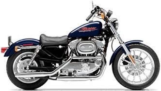 Harley Davidson 883 Sportster Hugger motorcycle