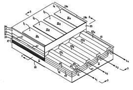 Patent sketch for monolithic multi-wavelength laser diode array
