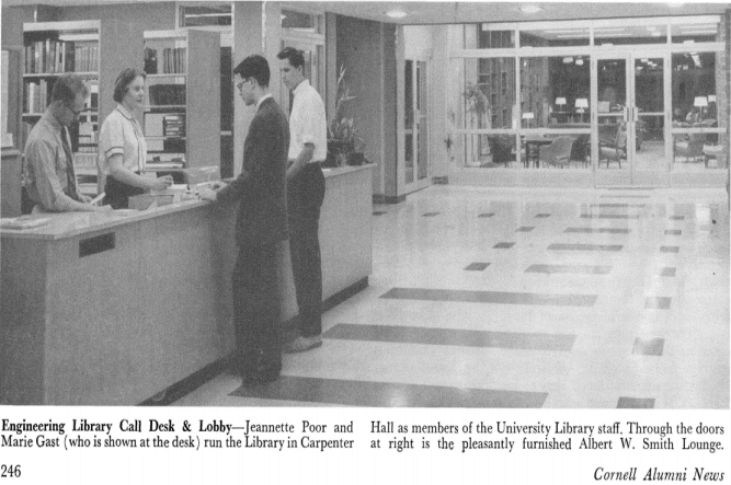 Engineering Library Call Desk, 1957