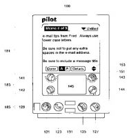 Patent sketch for interacting with a portable computer system