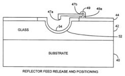 Patent sketch for micromachined reflector antenna method