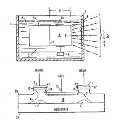 Patent sketch for electrochemically eroding semiconductor device