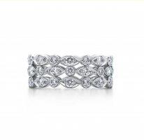 Tiffany Swing Three-Row diamond ring