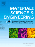 Materials Science and Engineering A: Structural Materials Cover