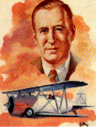 Painting of Leroy Randle Grumman